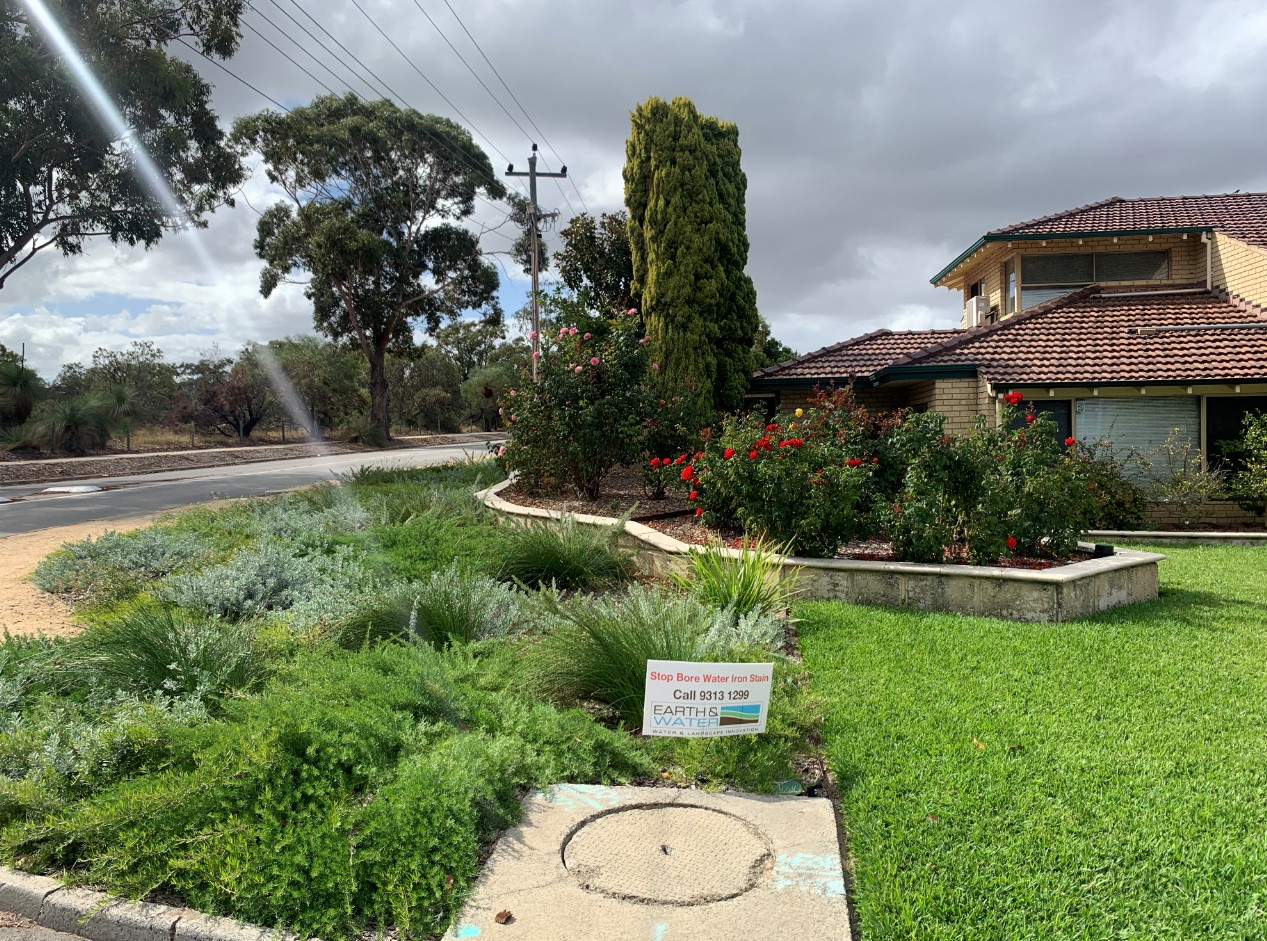 Water Controllers automate irrgition of garden beds and lawns on this Booragoon Property