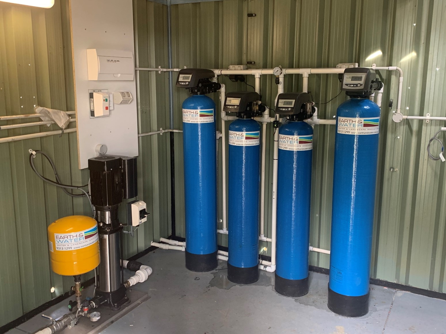 Quad sand filters for bore water treatment