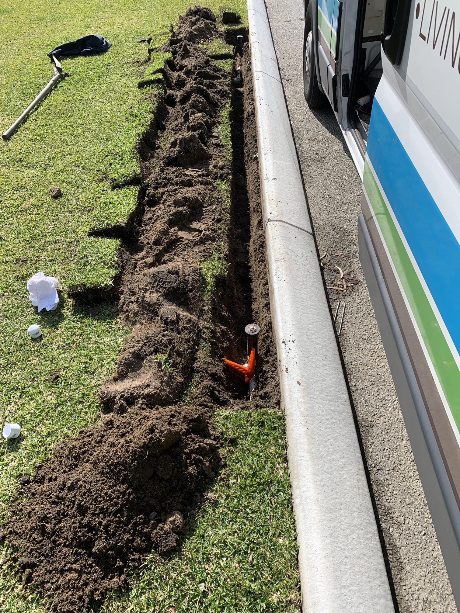 Dalkeith irrigation installation and water treatment lawn