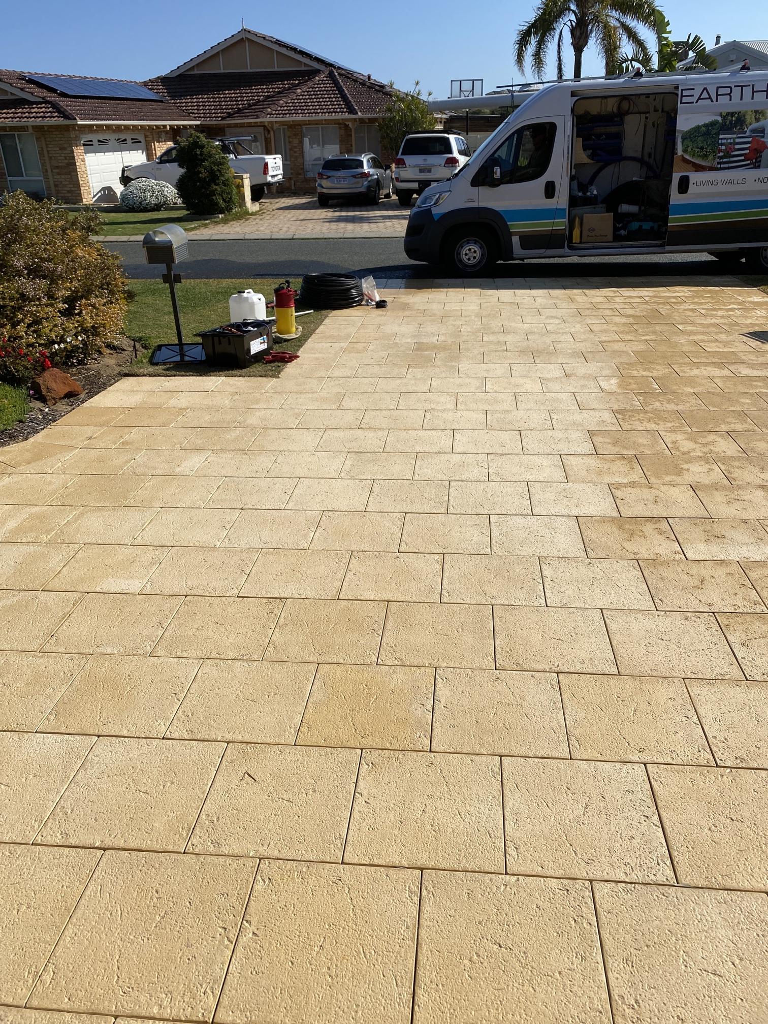 Joondalup Iron Stained Drive way After
