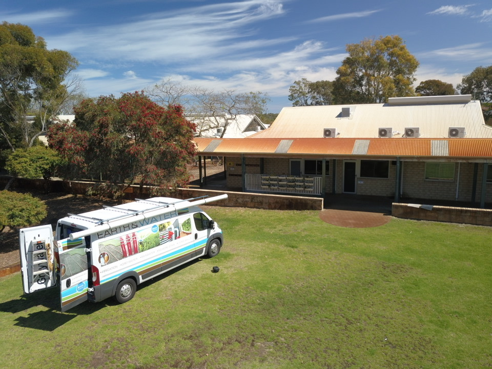 Joondalup Primary School Iron stain removal and bore water treatment project aerial